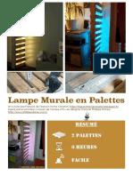 DIY Tutoriel Lampe Murale Palettes 1001Pallets (Fr)