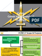 Cyber Branch 17A Overview Brief