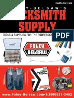 Locksmith Supply Catalog - Foley