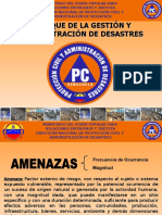 Enfoque de La Gestión y Administración de Desastres en Venezuela