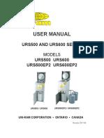 Manual_user - Urs500-600 Series