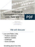 Optimization Potential in Indian Railways - Rajnish Kumar