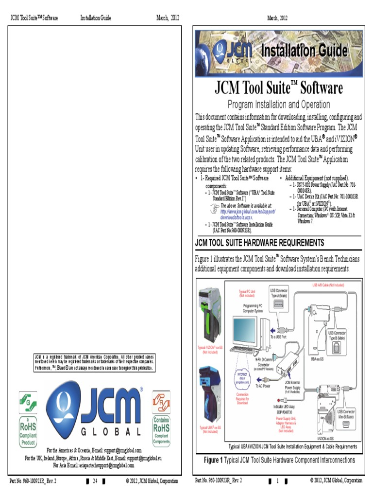 JCM Tool Suite Software manual | Personal Computers | Installation