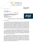 ARPAIO Lawyers SHERIFF ARPAIO Letter From Goldman to WH Counsel Aug 25 2017