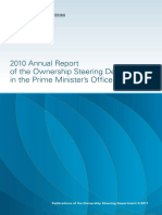 2010 Ownership Steering Department Prime Minister Office Annual Report