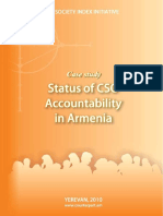 Accountability - Status of CSO Accountability in Armenia - 2010