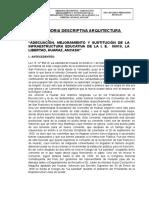 MEMORIA DESCRIPTIVA ARQUITECTURA PROYECTO DEF. CN LA LIBERTAD.doc