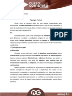 - Redação - Tipologias Textuais