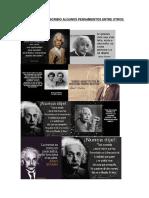 Albert Einstein Pensamientos