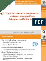 Presentación Curso de Capacitación a Instructores de Prevención y Tratamiento en Adicciones en lo Laboral