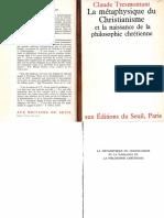 Claude Tresmontant La Métaphysique Du Christianisme Et La Naissance de La Philosophie Chrétienne