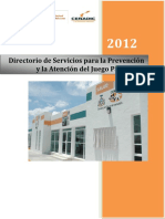 Directorio Atencion a Juego Patologico 2012