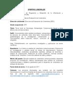 Descripción de Ofertas Laborales DEC SP5 2017