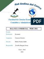 Balanza Comercial Peru 2016