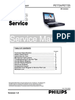 Philips Pet724, Pet725 Service Manual