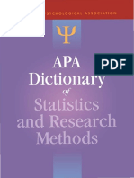 (APA Reference Books) Sheldon, Ph.D. Zedeck, Sheldon, Ph.D. Zedeck-APA Dictionary of Statistics and Research Methods-American Psychological Association (APA) (2013)