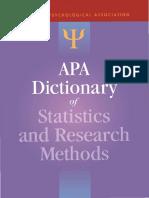 (APA Reference Books) Sheldon, Ph.D. Zedeck, Sheldon, Ph.D. Zedeck-APA Dictionary of Statistics and Research Methods-American Psychological Association (APA) (2013)