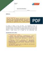 Guía Estructura de La Crítica Periodística