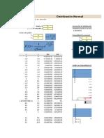 Planilla de Excel de Distribucion Normal Gauss