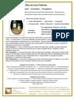 Pesquisa Informativa Óleo de Palmiste Julho 2015