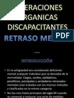 Alteracionesorganicasdiscapacitantes Retrasomental Maestra Alicia