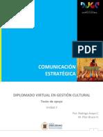 Curso Comunicación Estratégica, Texto de Apoyo Unidad 3 2017