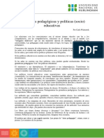 Gramáticas pedagógicas y políticas (socio) educativas