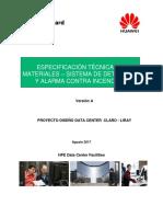 DCCLC-SI-061-3-A Especificación Técnica Detección y Alarma
