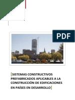 SISTEMAS CONSTRUCTIVOS PREFABRICADOS APLICABLES A LA CONSTRUCCIÓN DE EDIFICACIONES EN PAÍSES EN DESARROLLO