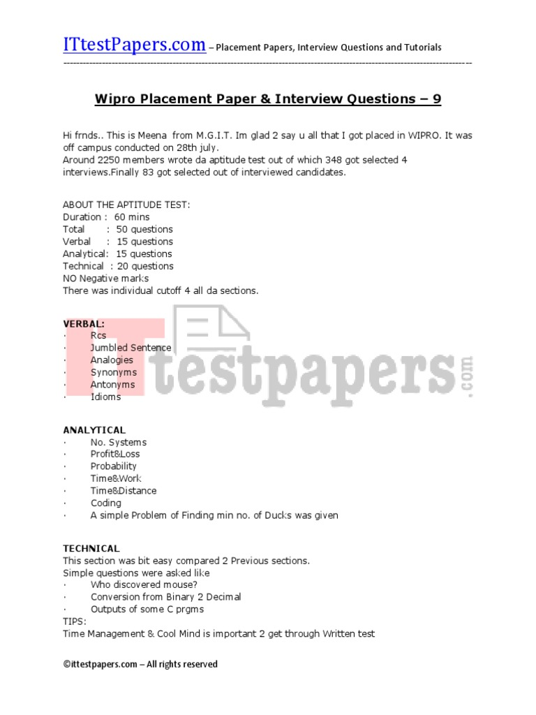 130-wipro-placement-papers-and-interview-questions-9 pdf