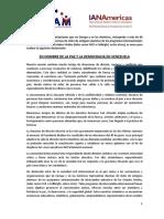 Asociaciones de exalumnos de intercambio piden libertad y democracia en Venezuela