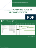 Make a Planning Tool in Microsoft Excel