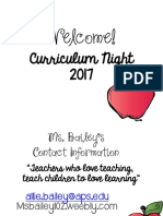 curriculum night 17