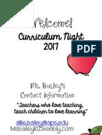 curriculum night 17