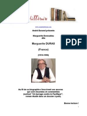 Marguerite Duras Troubles Fiction Et Litterature