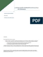 El Desafio de La Evaluacion Formativa en El Aula de Primaria Romina Romero