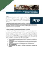 Maestria Gestion Economica de Riesgos de Desastres y Desarrollo Sostenible