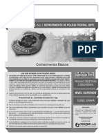 Cespe 2014 Policia Federal Conhecimentos Basicos Nivel Superior Prova