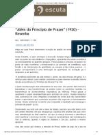 """""""Além Do Princípio de Prazer_ (1920) – Resenha _ PalavraEscuta"""