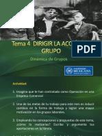 Tema 4 Dirigir La Acción de Grupo