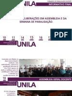 Informativo Final - Comando de Paralisação - Greve Agosto 2017