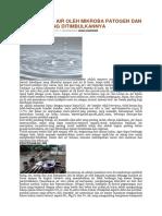Pencemaran Air Oleh Mikroba Patogen Dan Penyakit Yang