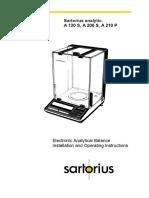 Balanza Electrónica Monoplato Santorius 210P