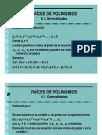 05c. Raices de Un Polinomio Generalidades