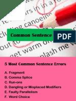 Common Sentence Errors
