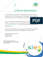 Beneficiarios Sies - FSM 25.08.17