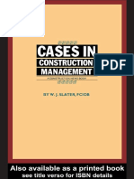 Cases in Construction Management AConstruction News Book 2