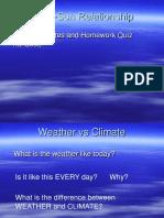 Topic 4 - Sun & Earth Relationship