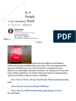 how to write a memo that people will actually read forbes
