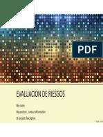 Evaluacion de Riesgos Exposicion